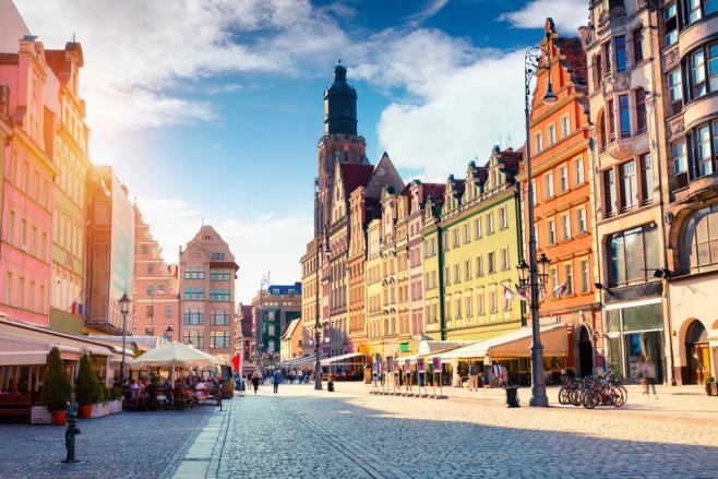 ポーランドの街並みっっっっっっq
