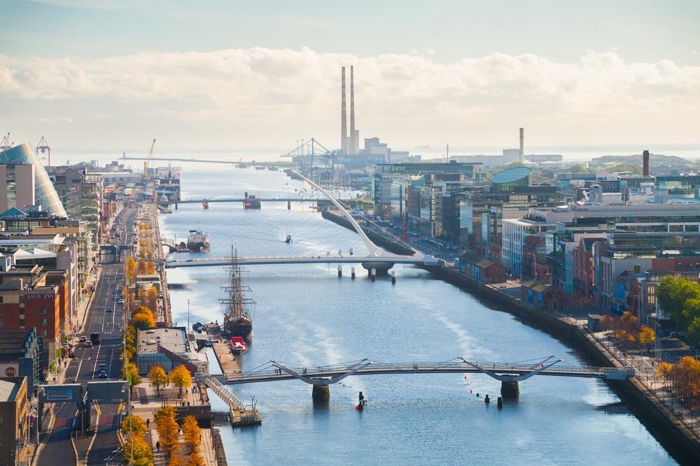 アイルランドの首都ダブリンの美しい街並み