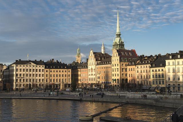 スウェーデン、ストックホルムの旧市街地