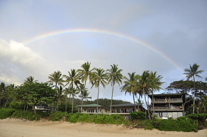 ハワイでの生活の中ではよく虹が見れます。