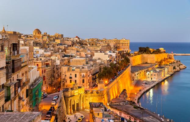 地中海のリゾートマルタの風景