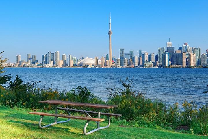 自然と都会が調和した街並み
