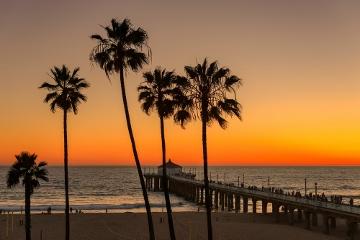 ロサンゼルスはマンハッタンビーチの美しいサンセット☆