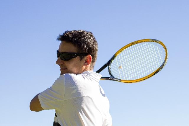 英語を使ってテニス