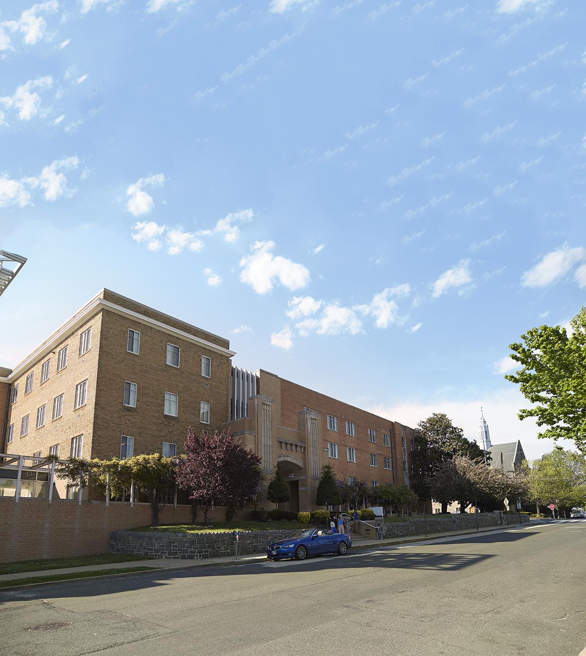 レンガ造りが印象的なEFワシントンDC校の外観