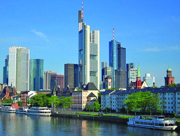 ドイツ、フランクフルトの風景