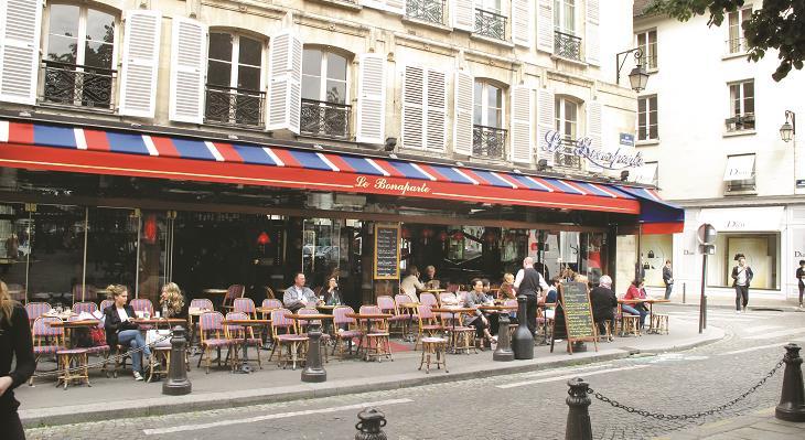 自由時間はカフェでパリっ子を観察♪